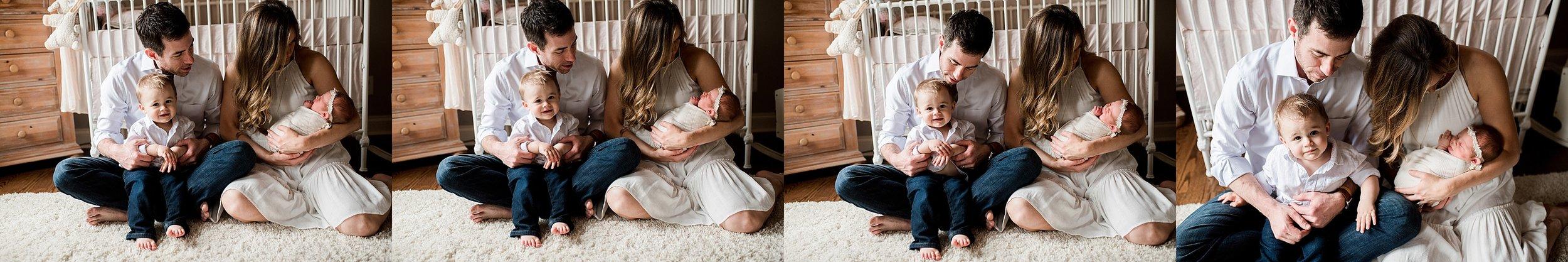 fun family newborn session