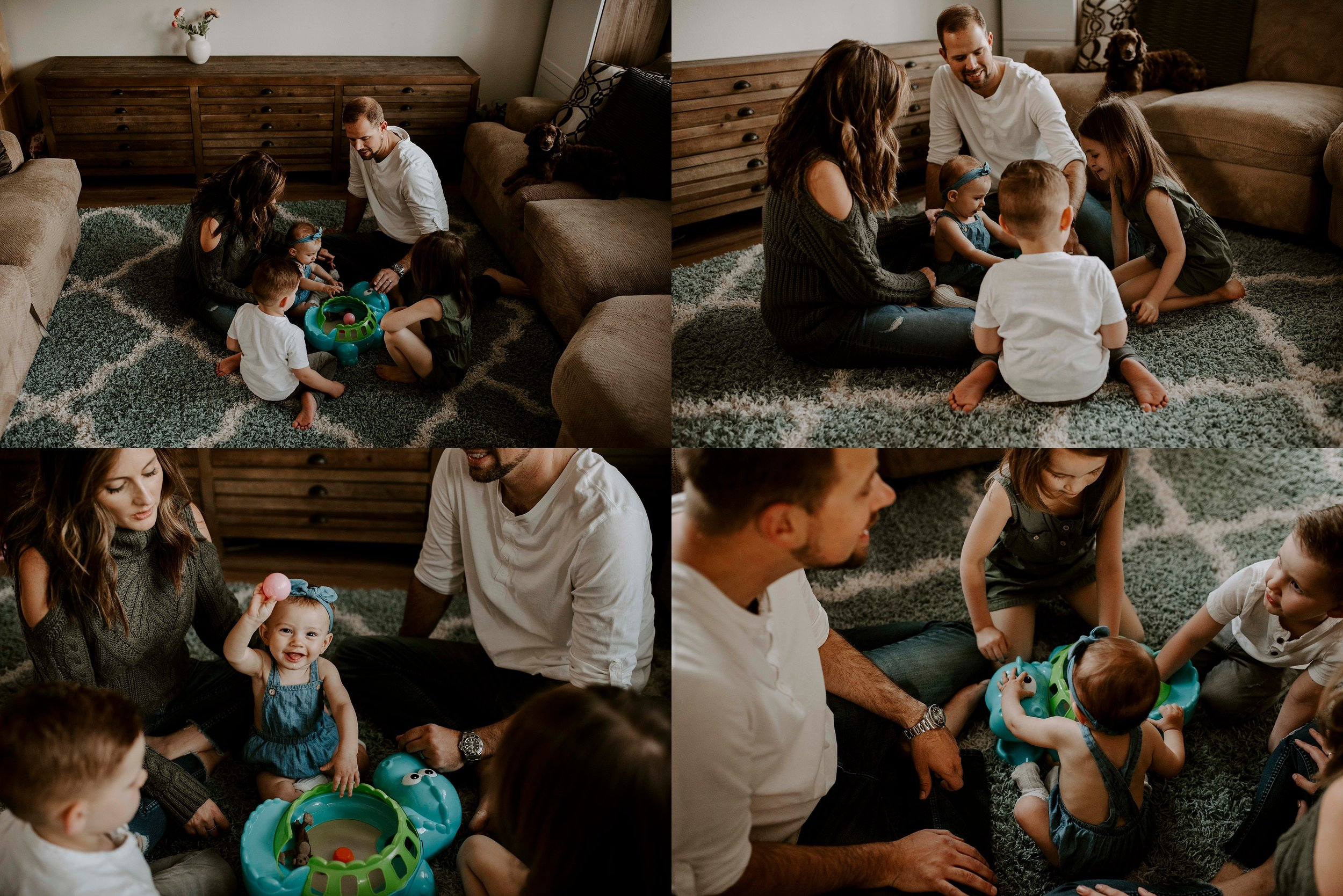 Their element, playing with their sweet babies and just enjoying the moments that followed.