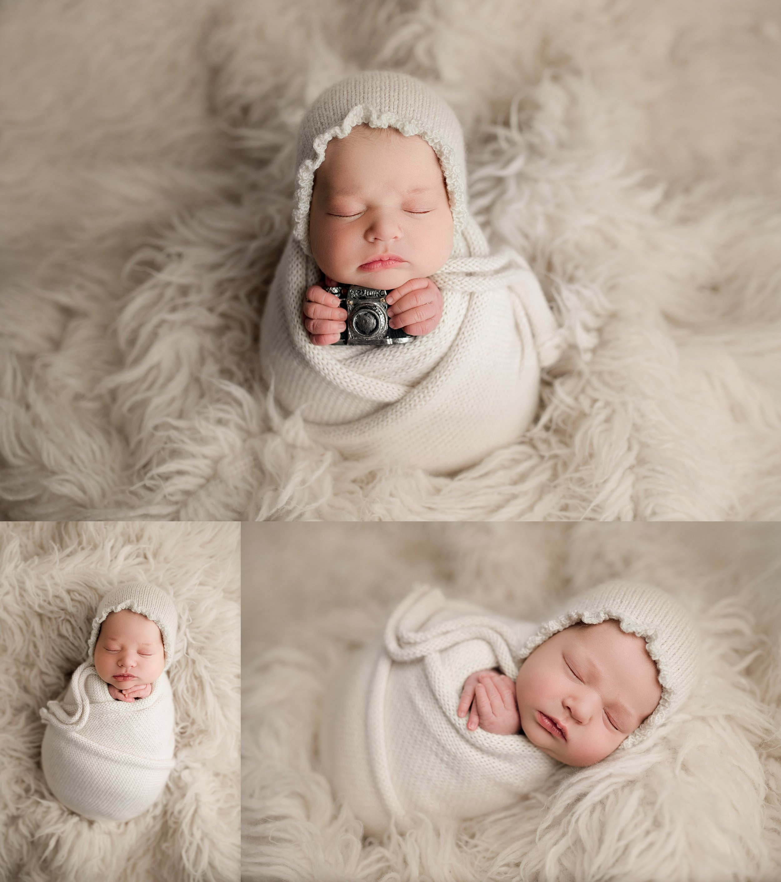 Newborn girl photoshoot posing ideas