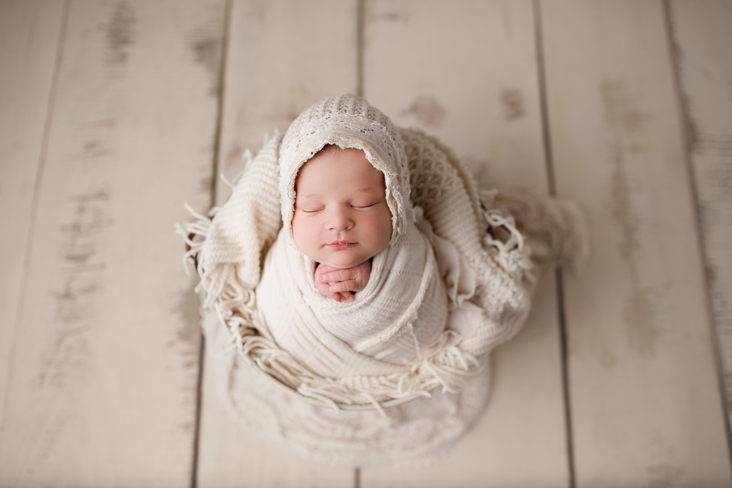 Newborn photography neutral props