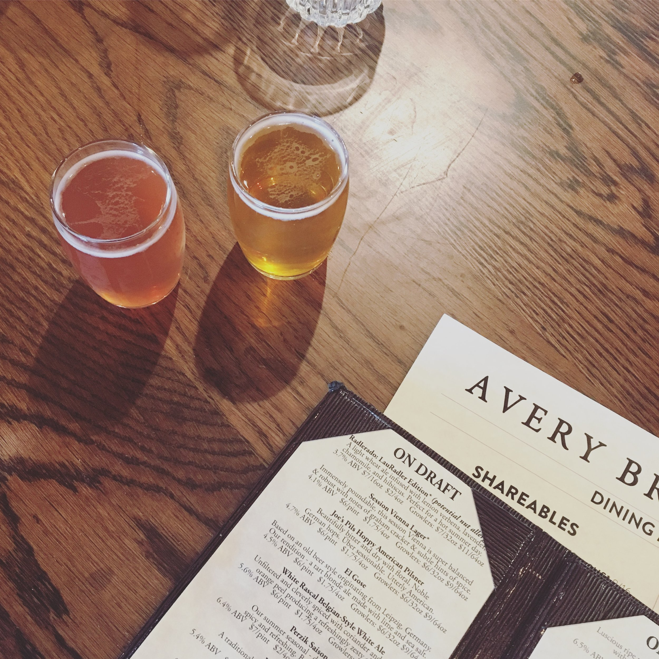 Beers at Avery Brewing