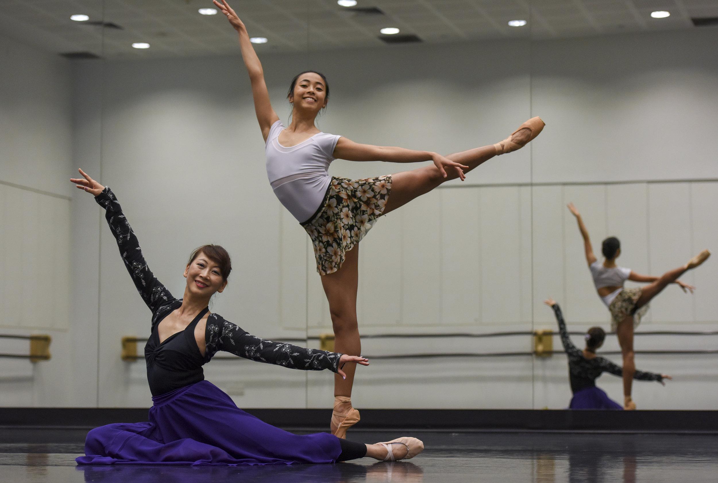 JENNY CHIEN & VALERIE YEO  Mother-daughter ballerina duo