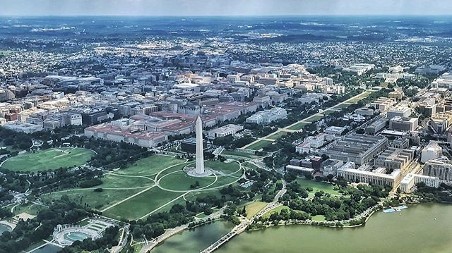 The joys of flying out of DC's Reagan Airport on a clear day. #washingtondc #dc #dclife #aerialphoto #iphonephoto #nationalmall