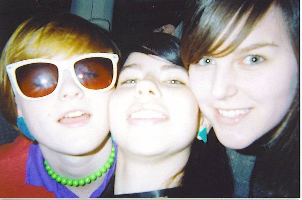 Stacy on the left, our sweet friend Kate, and me. Such swoopey bangs.