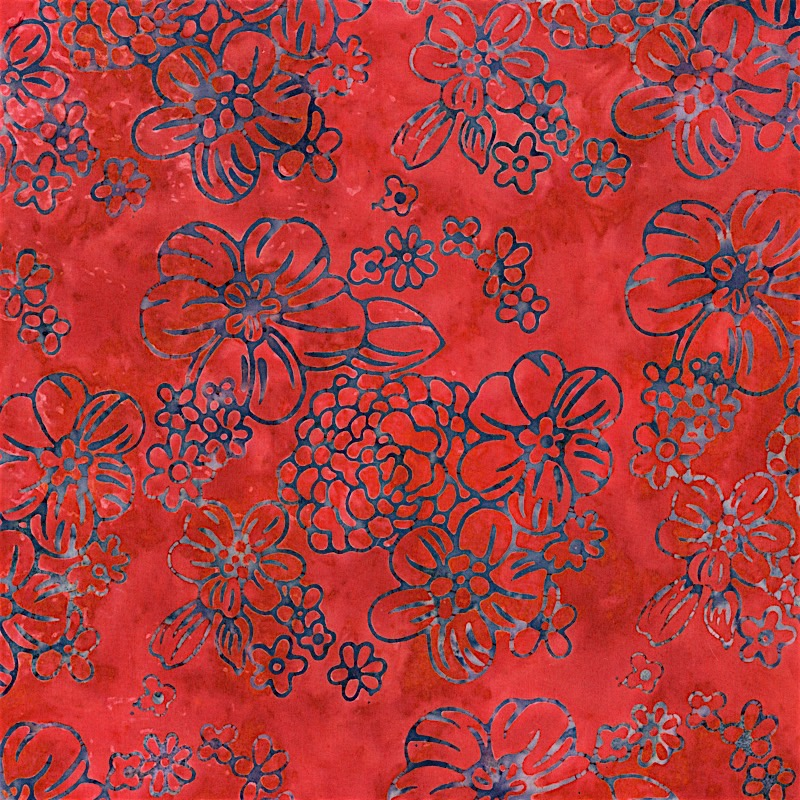 2976-006 FLOPPY FLORAL - RUST