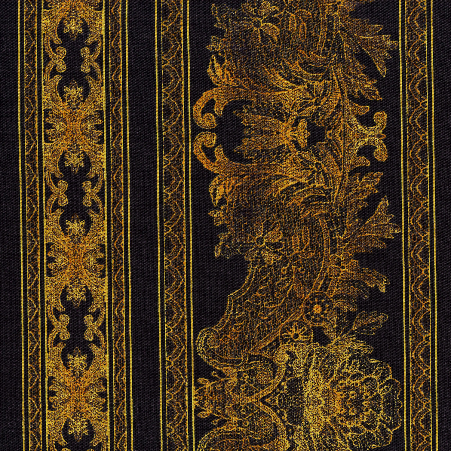 3012-002 LACE BORDER-GOLD