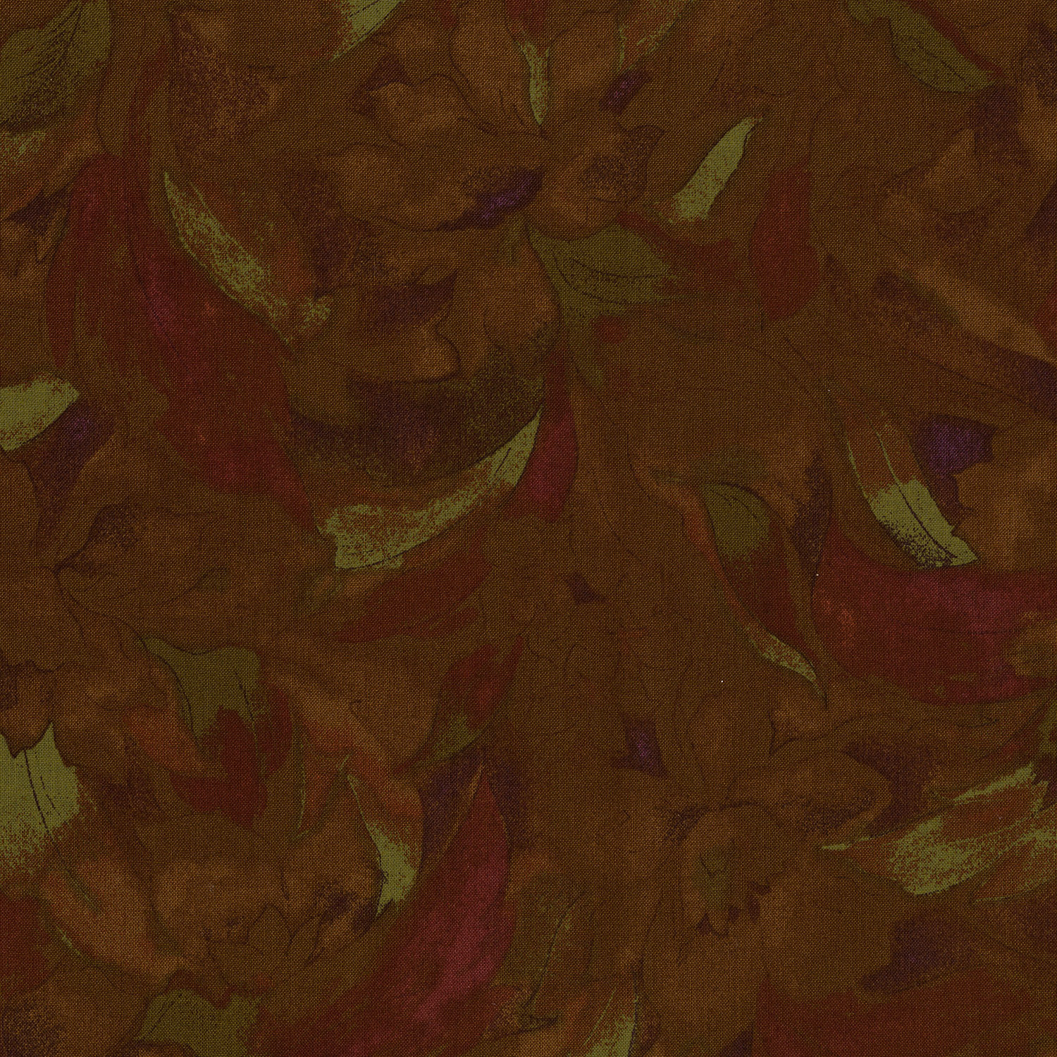 3014-001 LINEAR FLORAL-GOLD