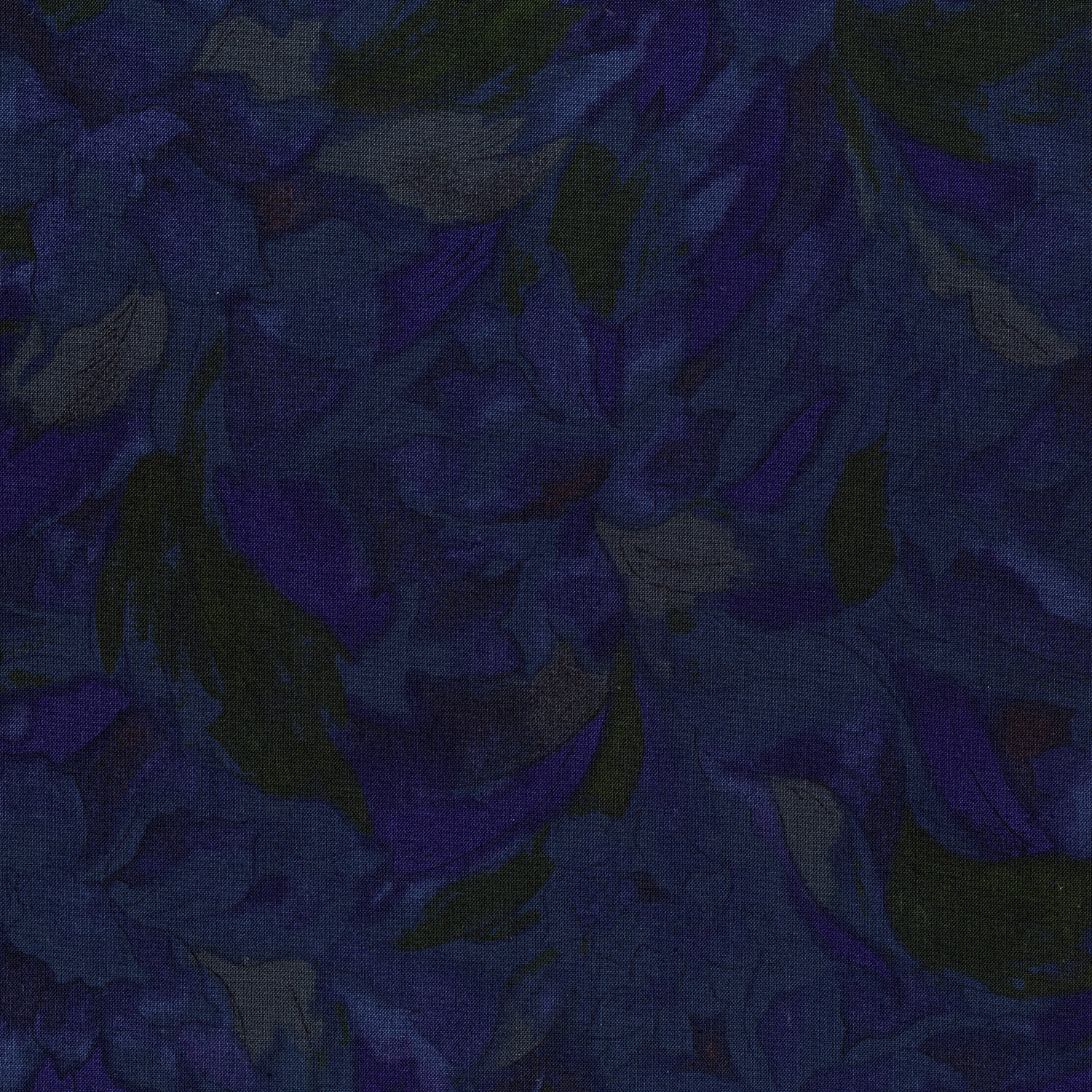 3014-004 LINEAR FLORAL-BLUE GREEN