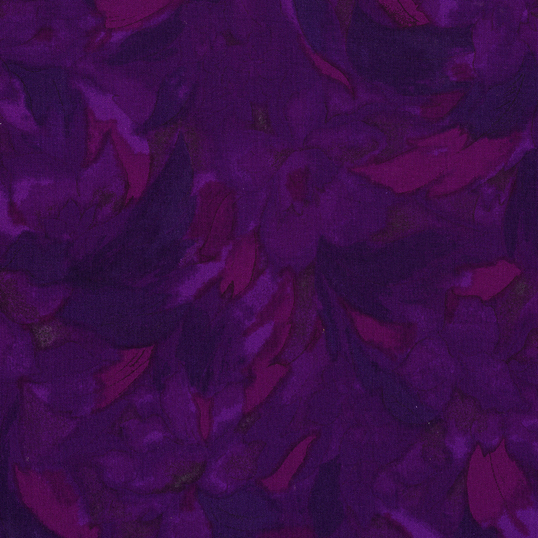3014-005 LINEAR FLORAL-MAGENTA