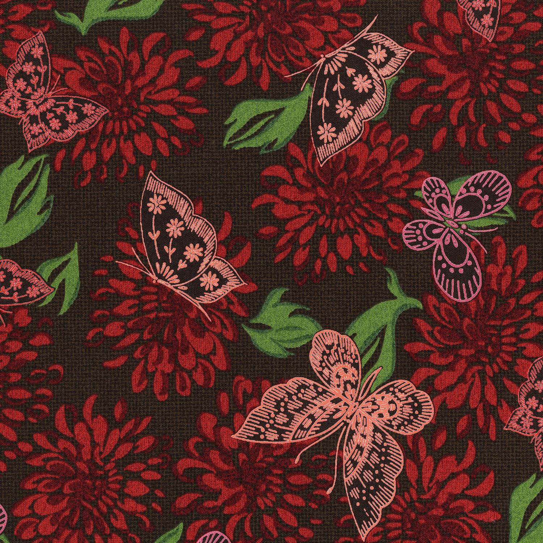 3070-002 BUTTERFLIES-POPPY