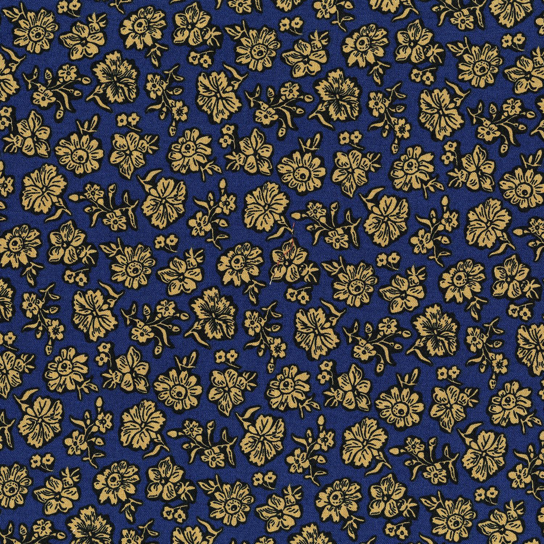3057-001 SHADOW FLOWER-NAVY