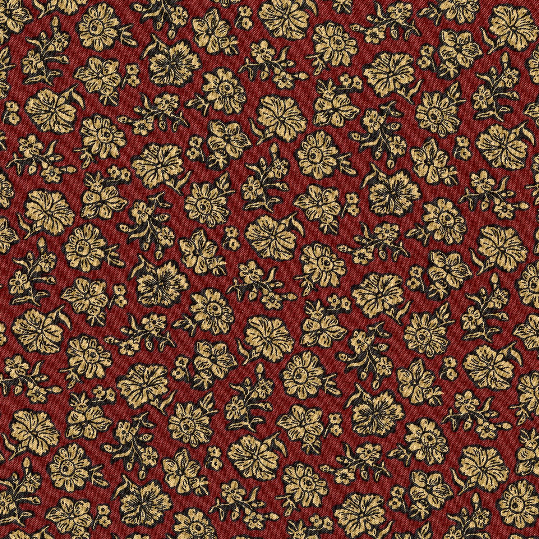 3057-002 SHADOW FLOWER-BRICK RED