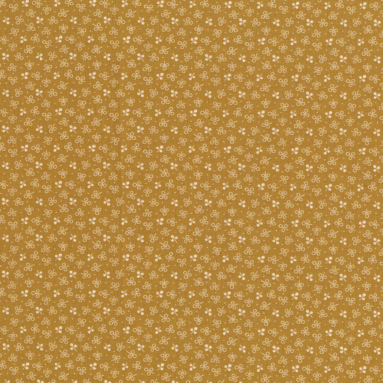 3061-001 THREE PETAL SPRIG-GOLD