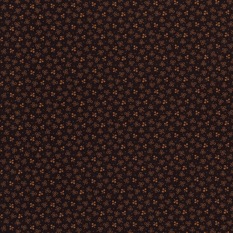 3061-002 THREE PETAL SPRIG-CHOCOLATE