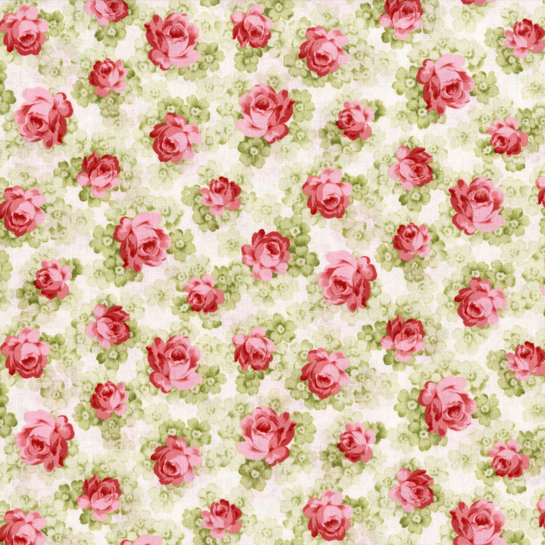 2934-001 WILD ROSE-FRENCH STRIPE