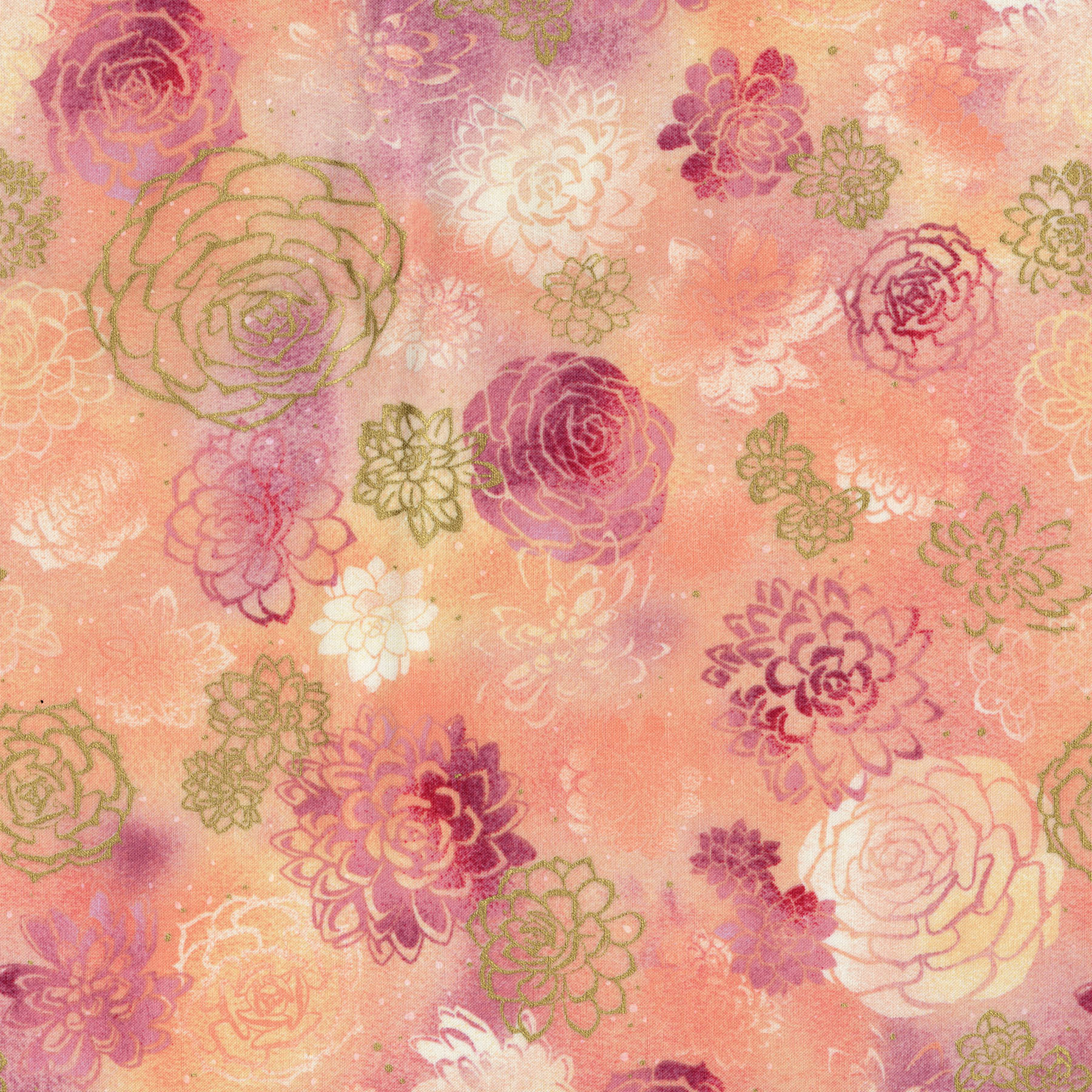 2889-001 SUMMER BLOOMS-CORAL