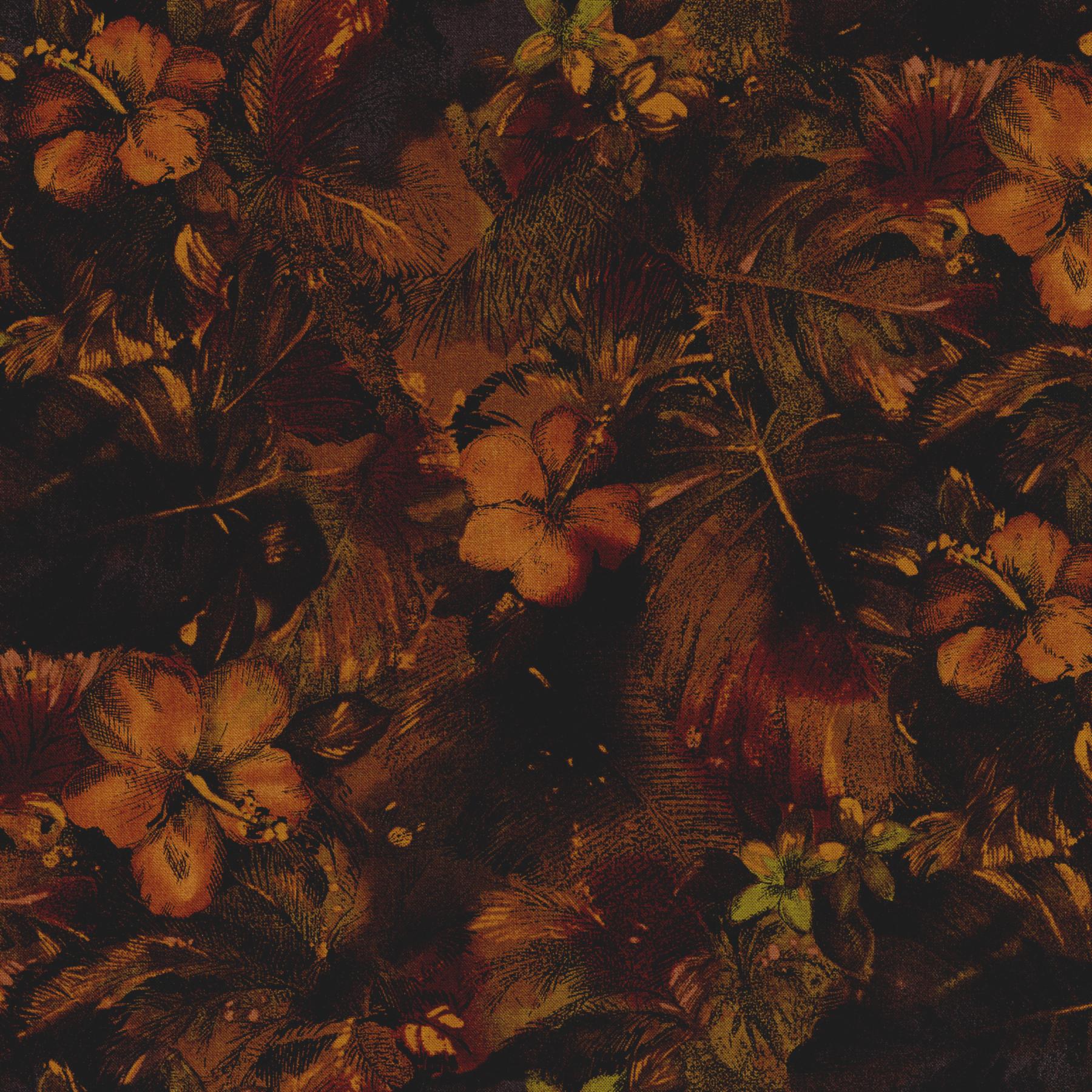 2793-003 FLORAL BROWN