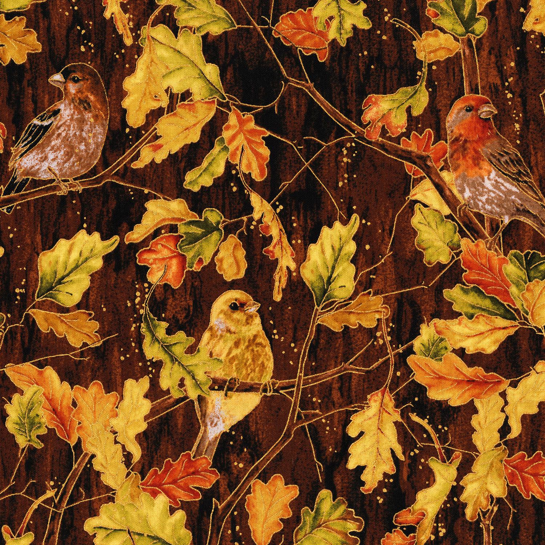 3115-001 BIRDS AND THE BREEZE-MAHOGANY