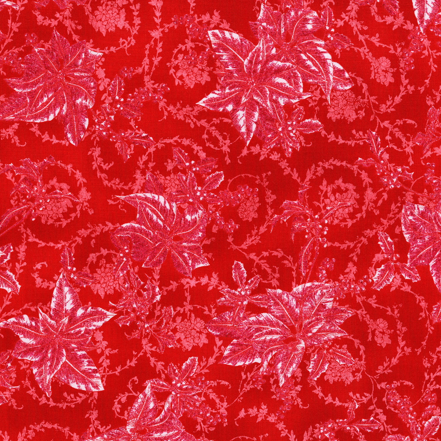 3157-001  CHRISTMAS BLOOMS-RADIANT CHERRY