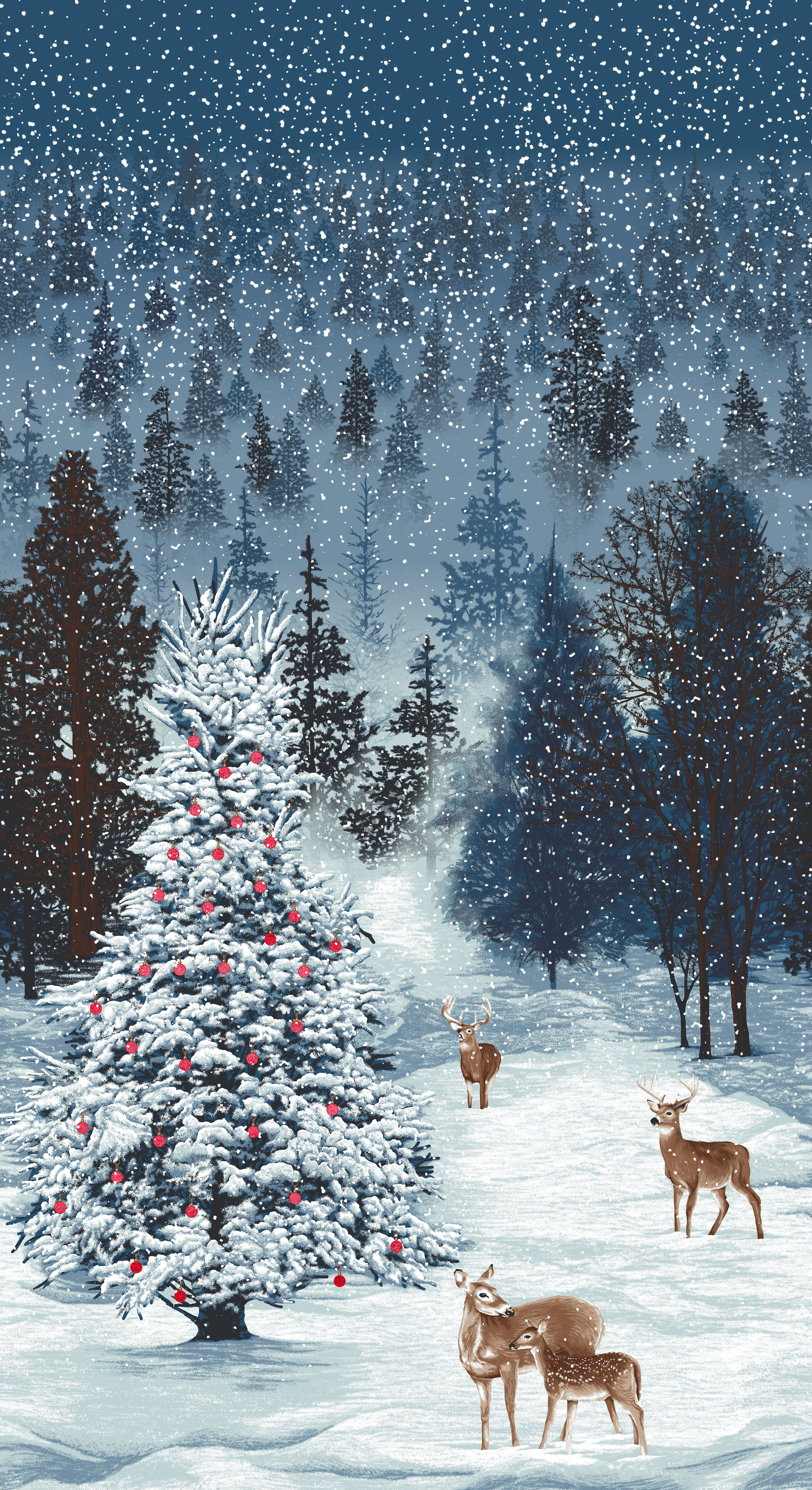 3167-001  FROSTED FOREST -DECEMBER
