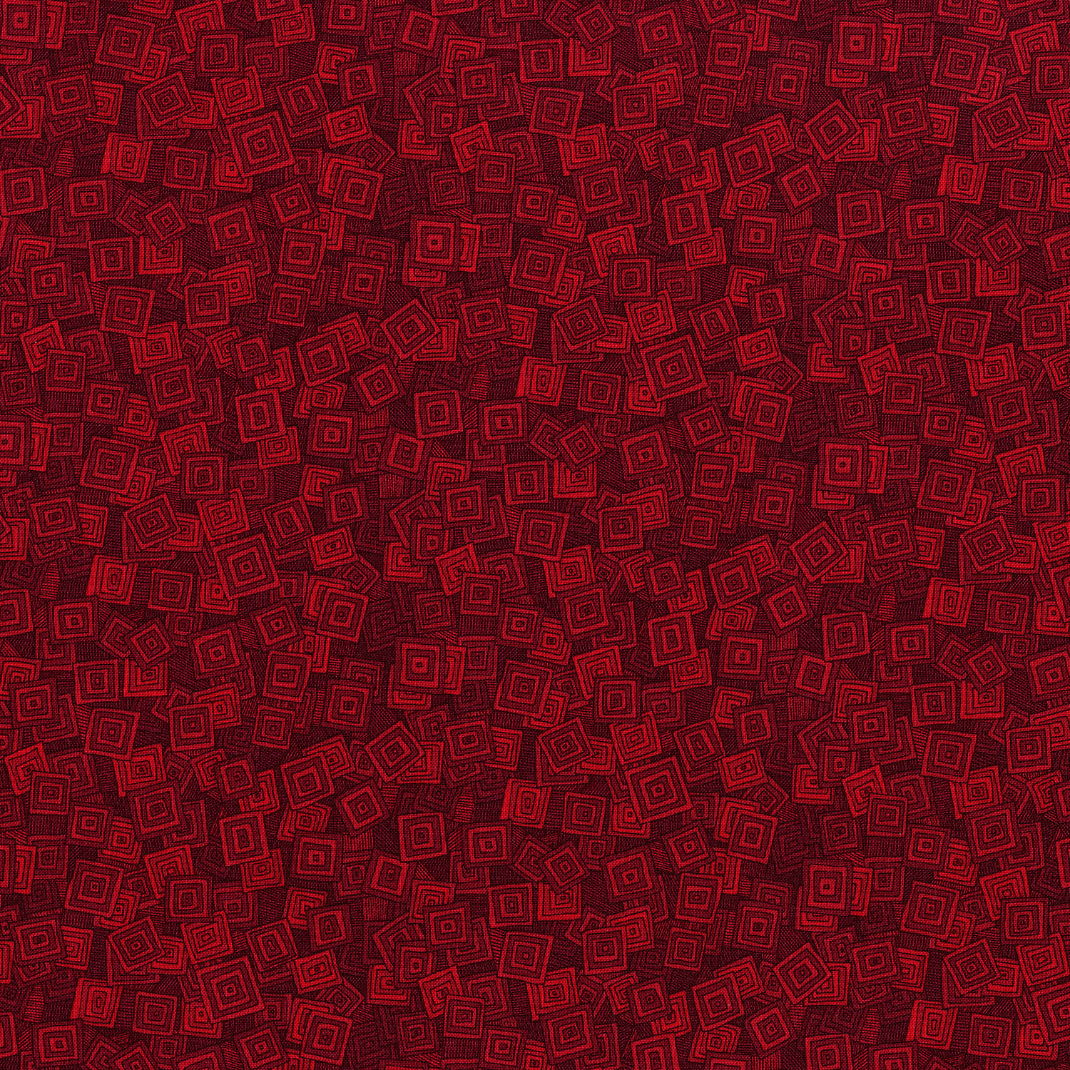 3215-005  OVERLAPPING SQUARES-SCARLET