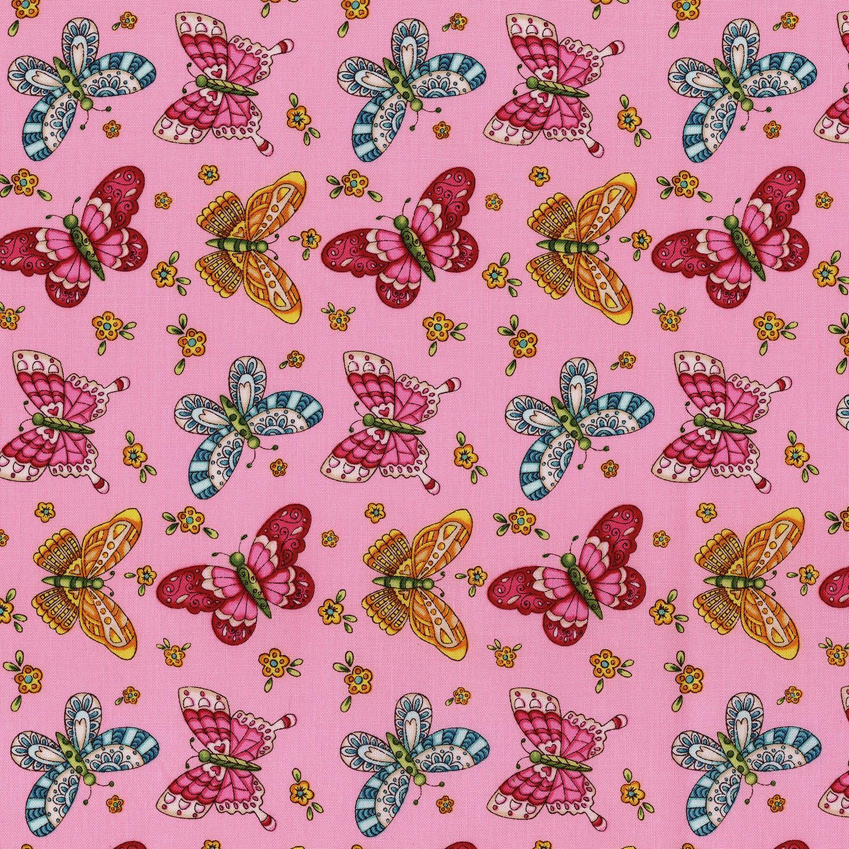 3245-003 BUTTERFLIES-PINK