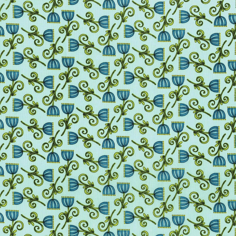 3247-003 SWEET BLOSSOM-AQUA