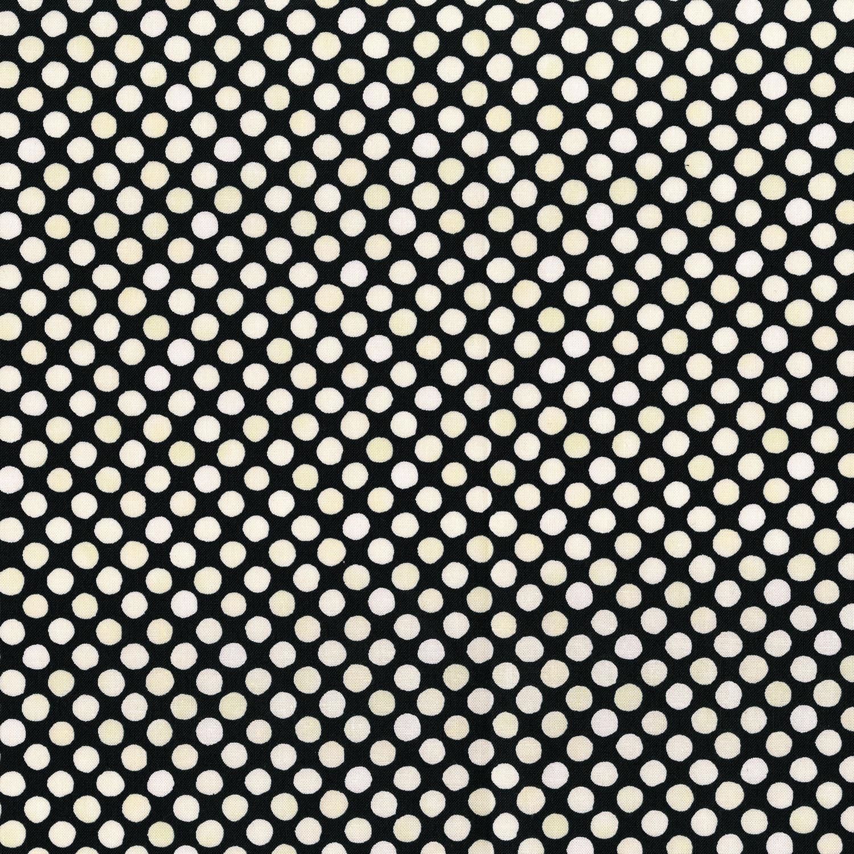 3249-007 GARDEN DOTS-CREAM BLACK