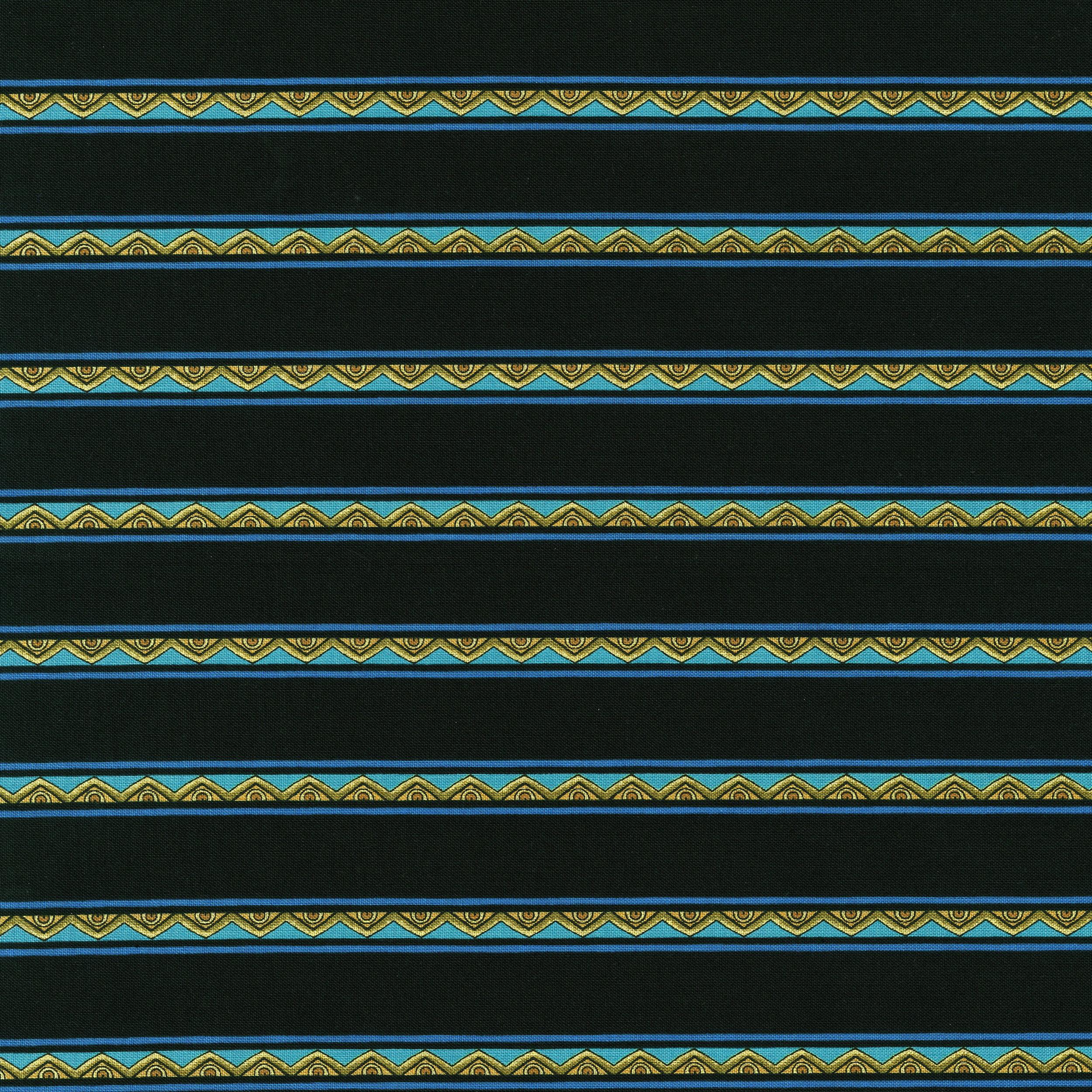 3287-001 MINI STRIPE-TEAL