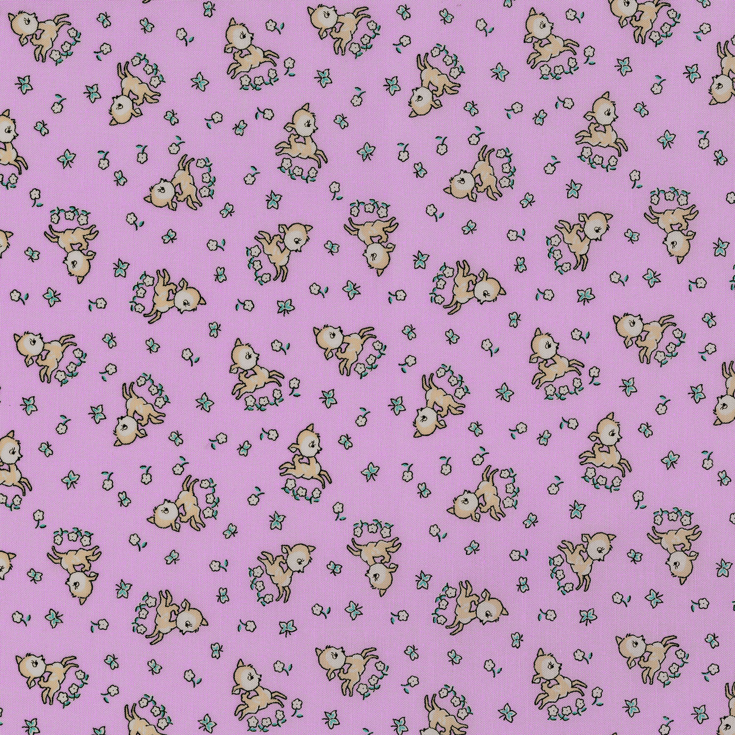 3307-003 FROLICKING FAWNS-LILAC