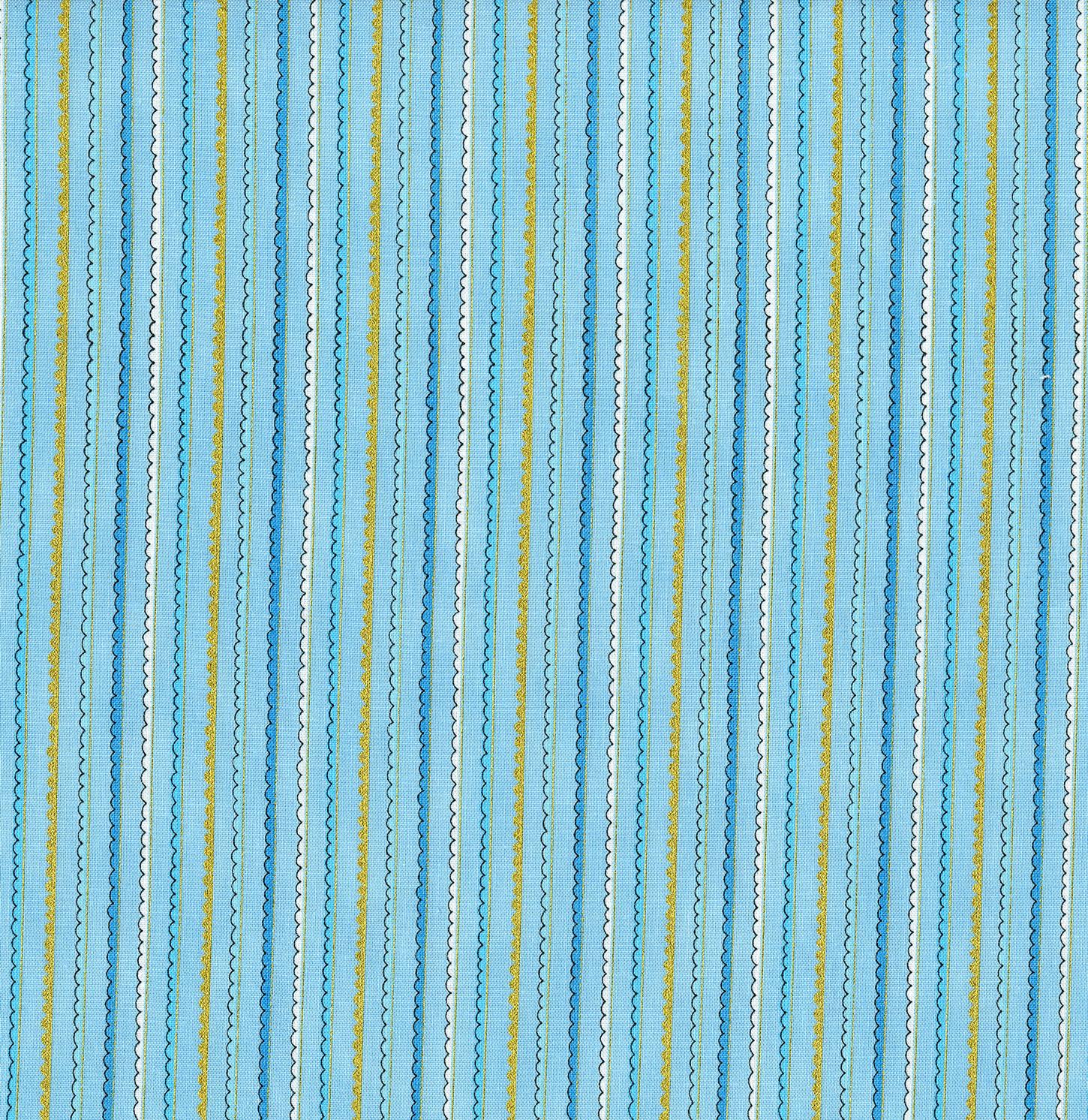 3381-003 DOODLE STRIPES-BLUE