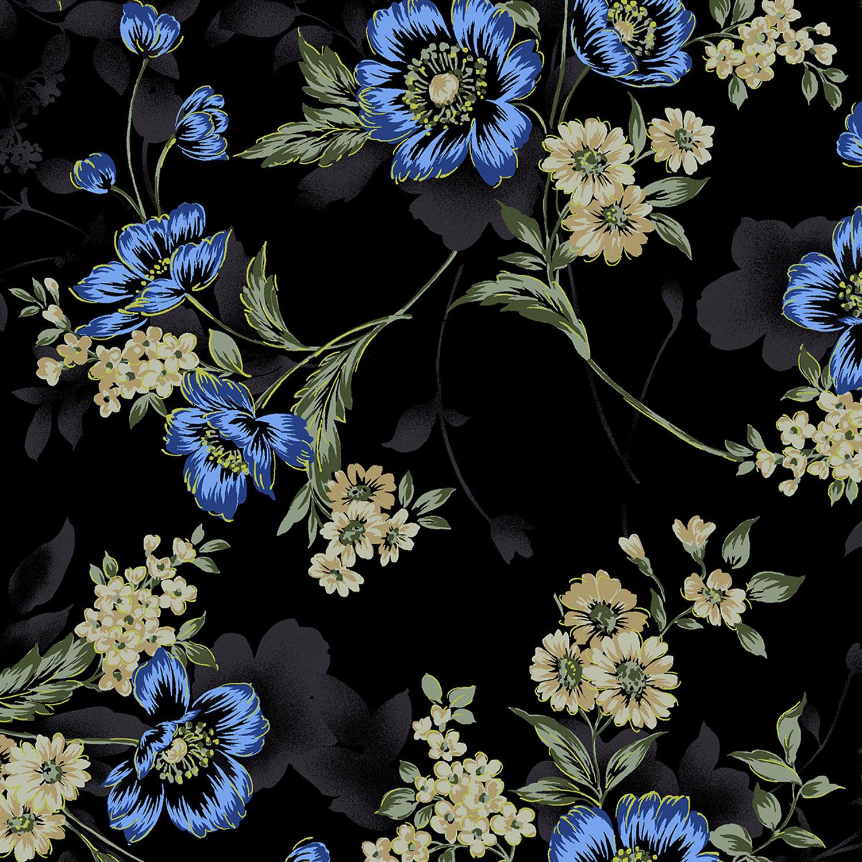 3416-001 LARGE FLORAL-BLUE