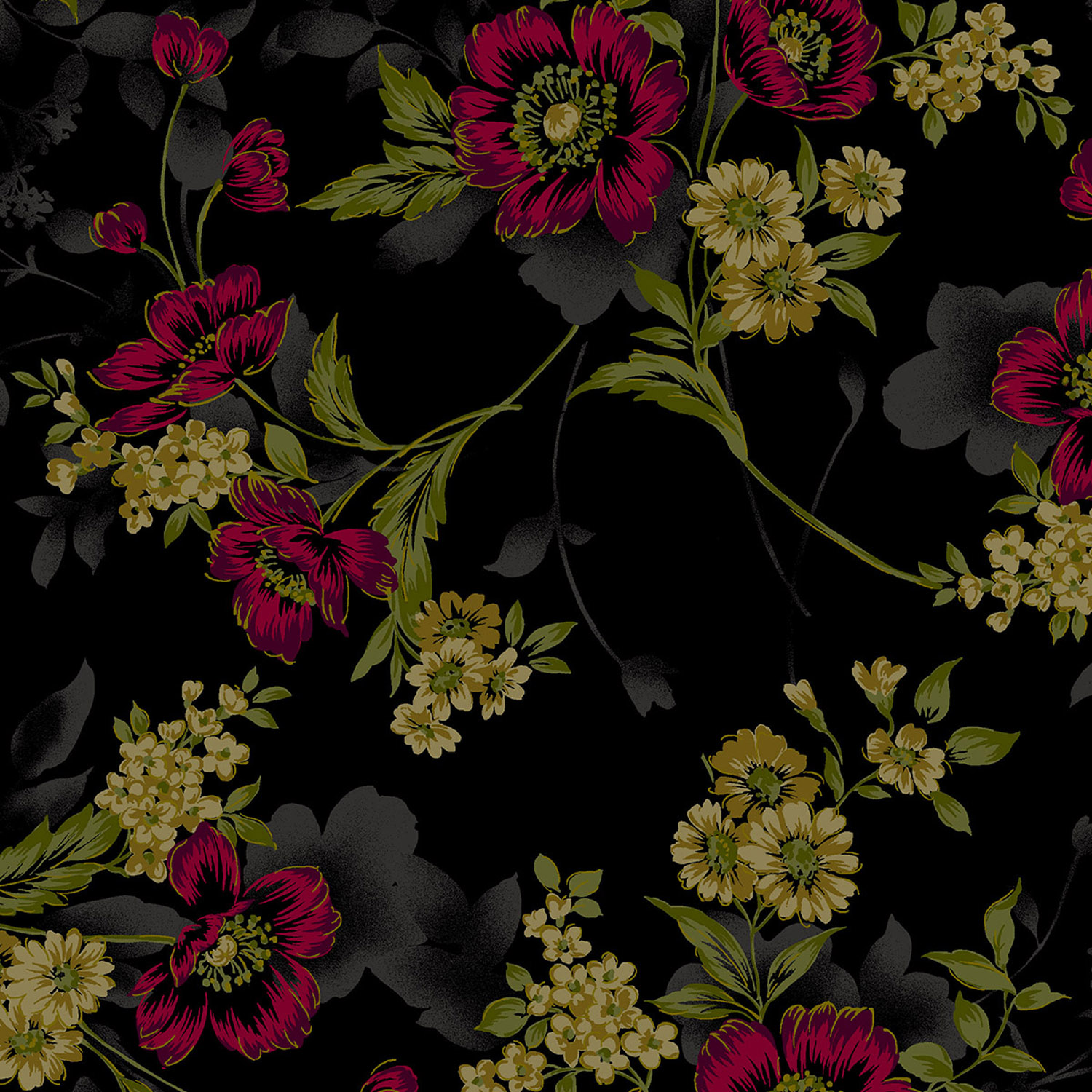 3416-004 LARGE FLORAL-RED