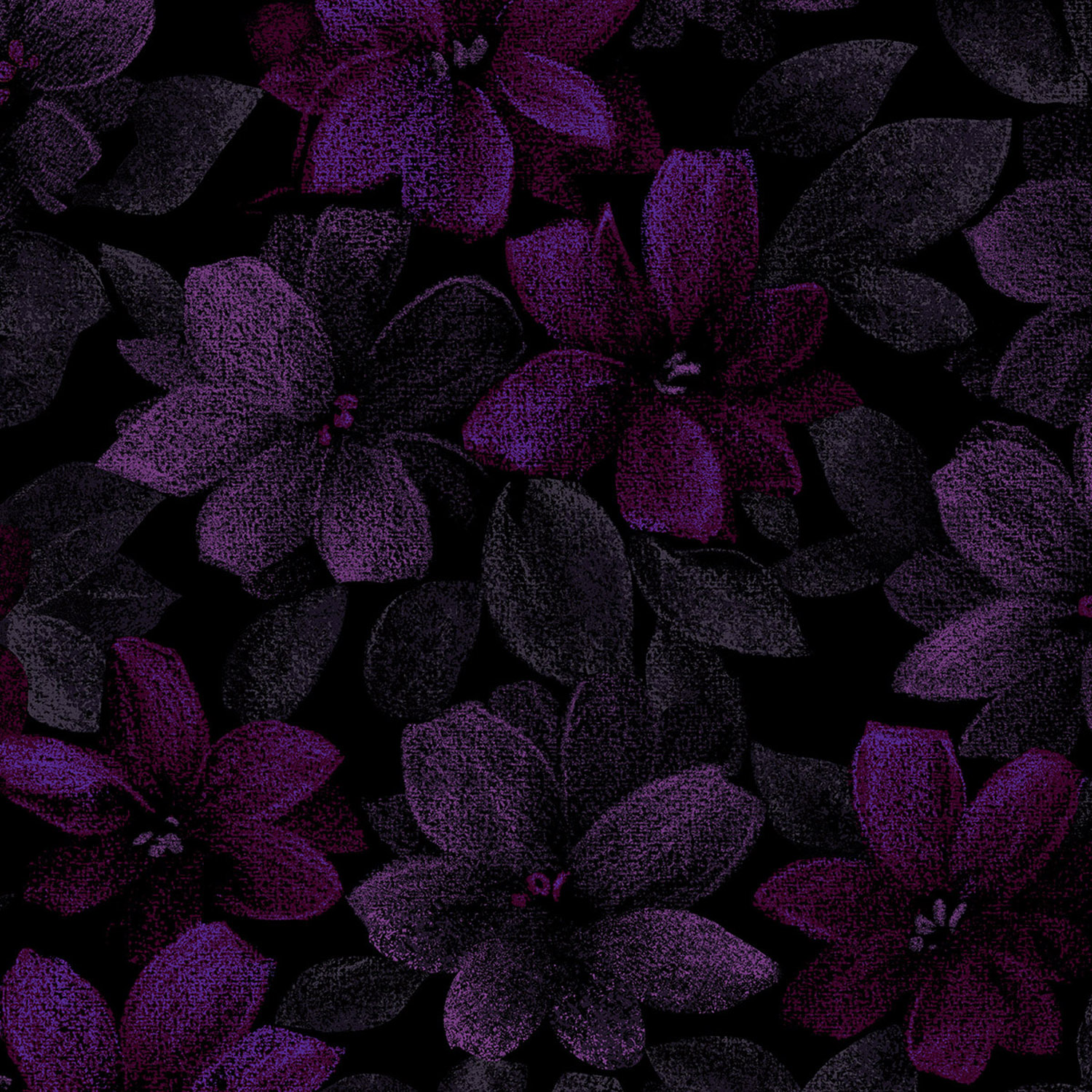 3420-003 PACKED FLORAL-PURPLE