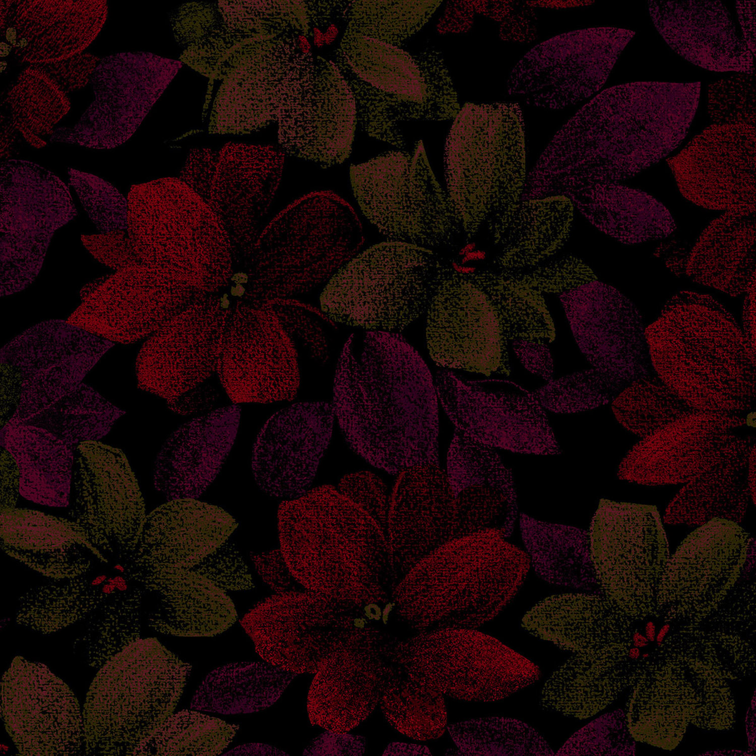 3420-004 PACKED FLORAL-RED