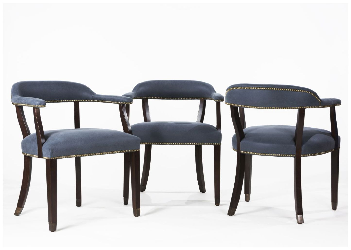 Custom Restaurant Arm Chairs with Curved Back