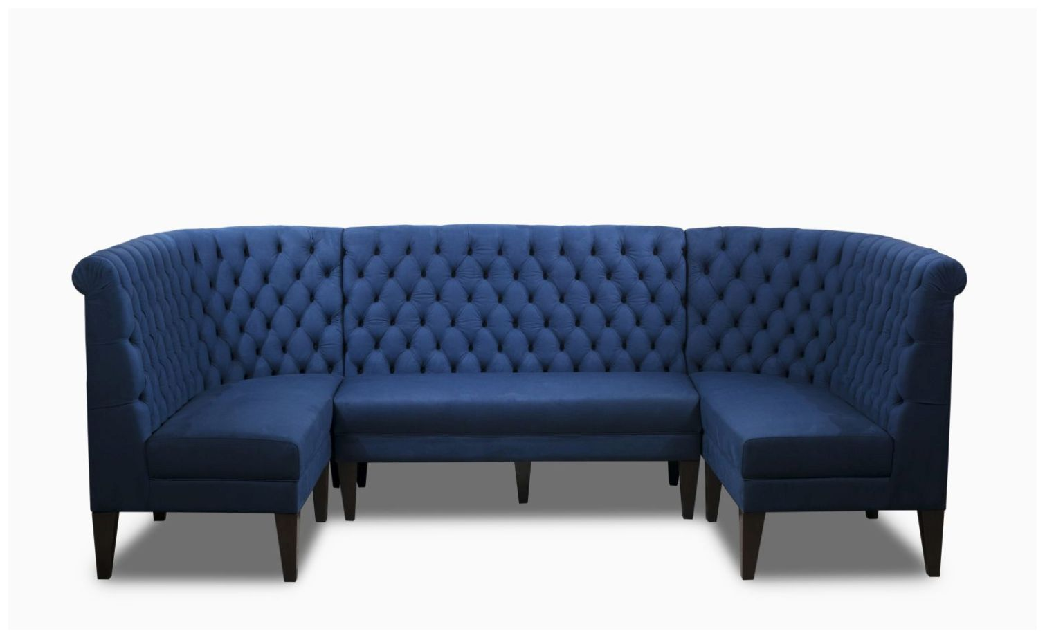 Custom Booth Seating with Button Tufting