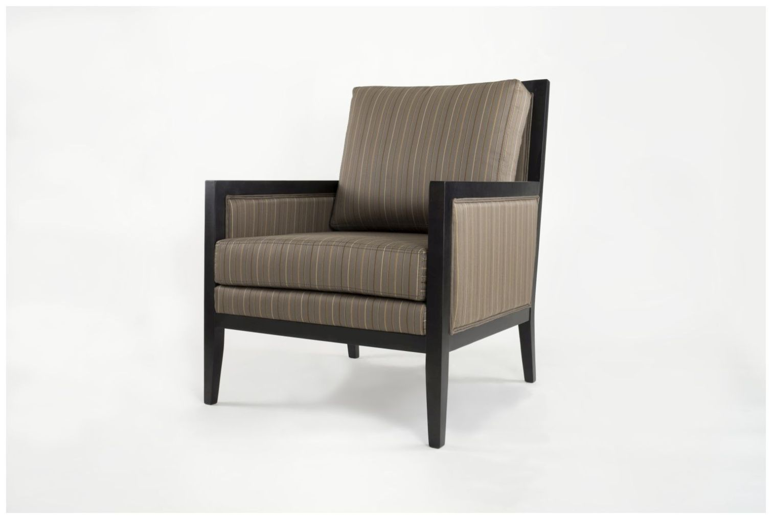 Custom Hospitality Armchair with Upholstered Side Panels