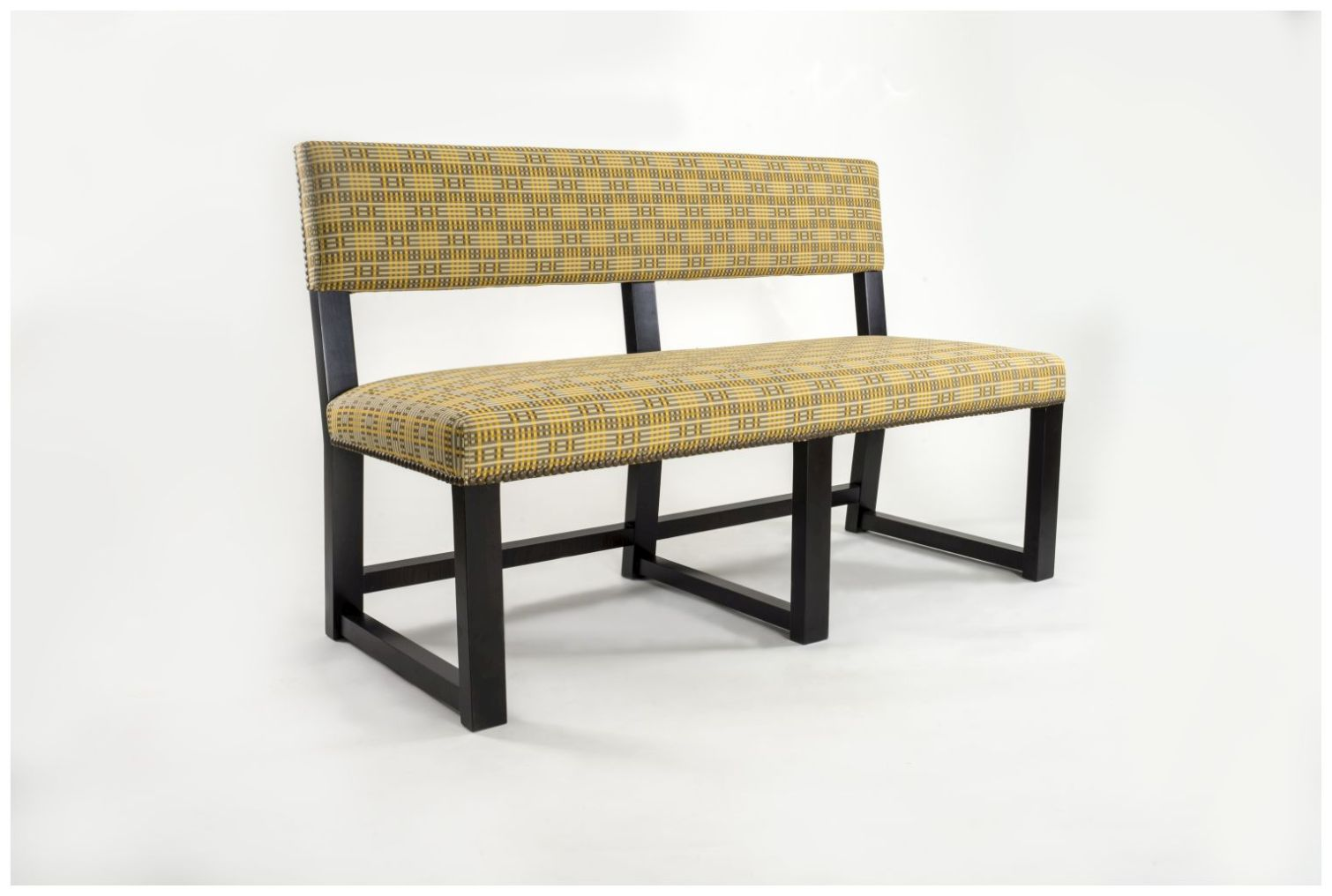 Custom Hotel Bench Seat with Upholstered Back