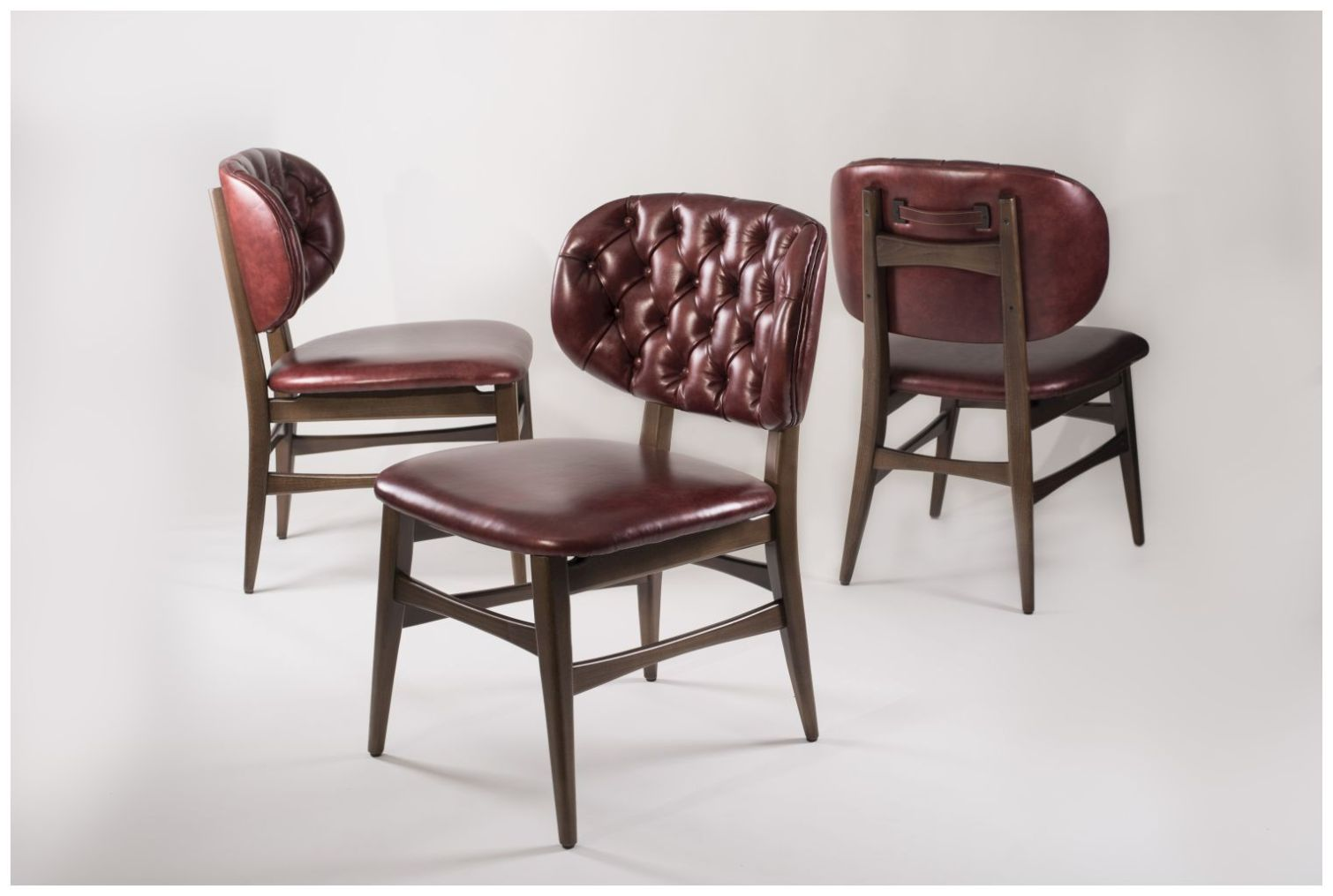 Custom Tufted Back Hospitality Dining Chairs