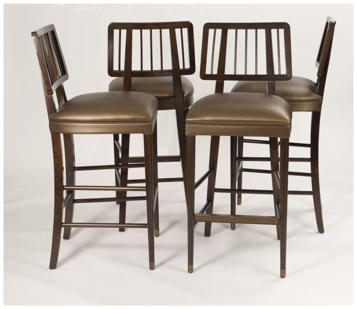 Custom Contemporary Open Back Barstools