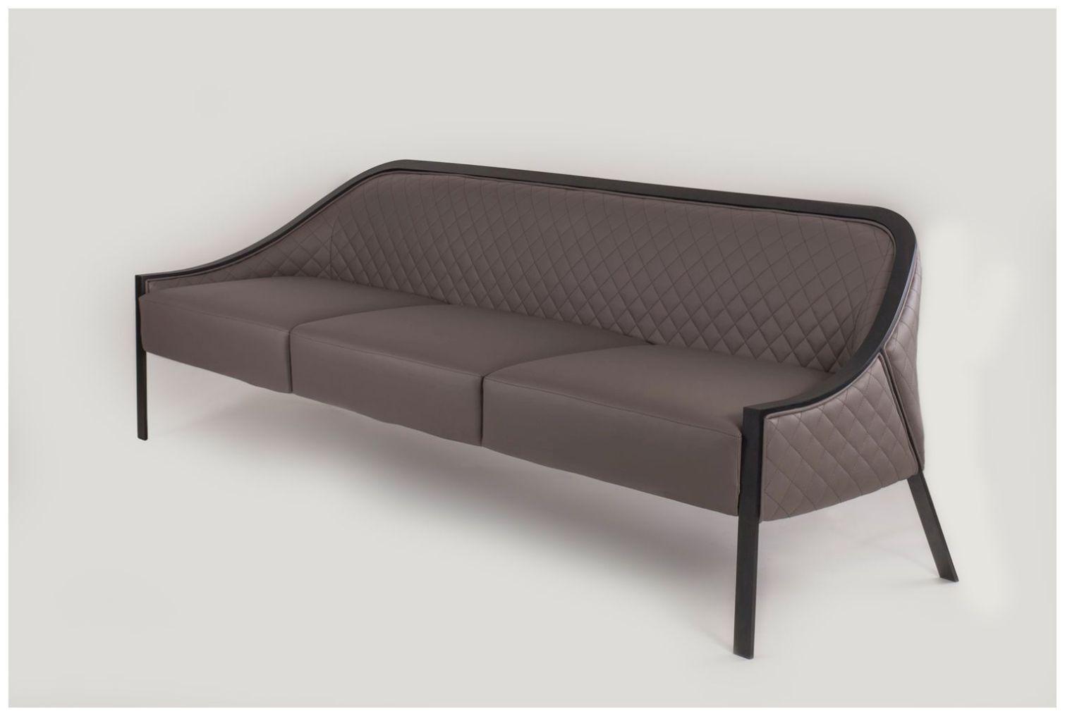 Custom Upholstered Restaurant Sofa with Metal Frame