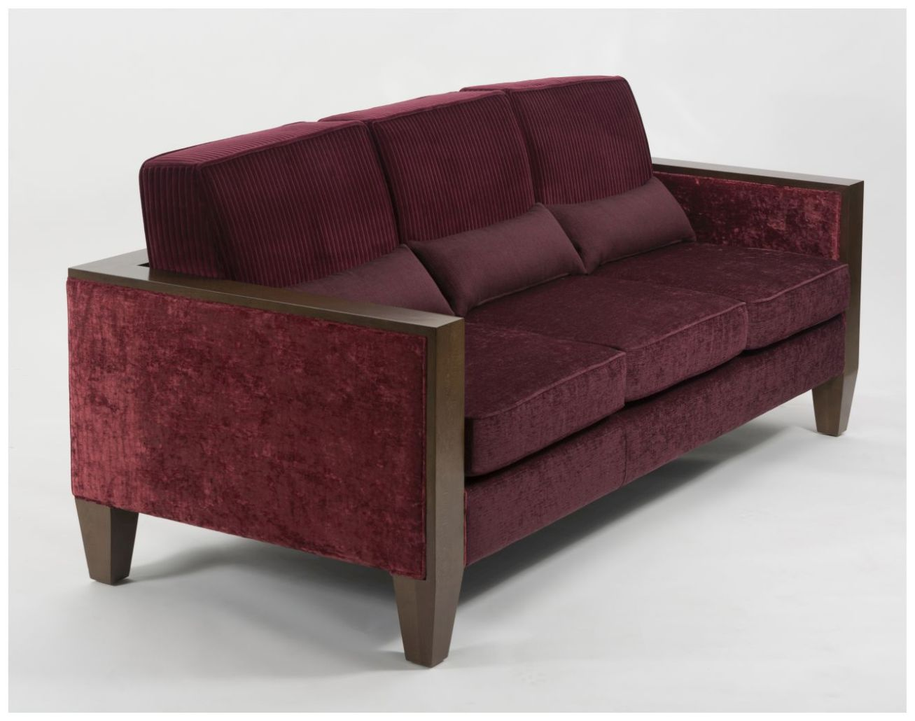 Custom Hotel Lounge Sofa with Wood Frame