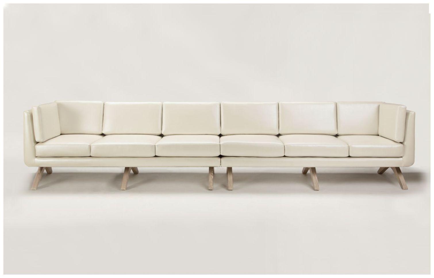 Large Custom White Hospitality Sofa