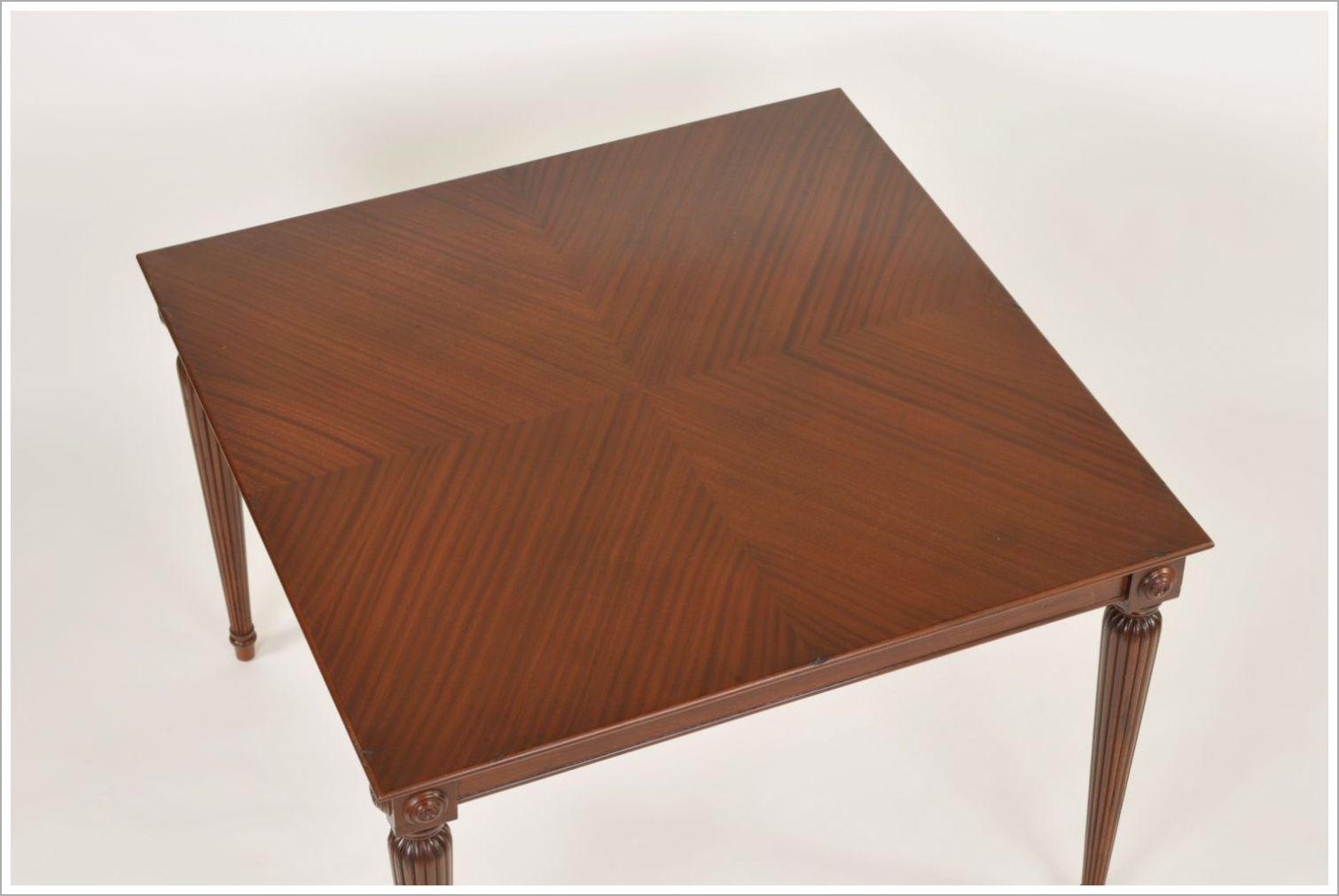 Custom Mahogany Restaurant Dining Table with Reverse Diamond Top