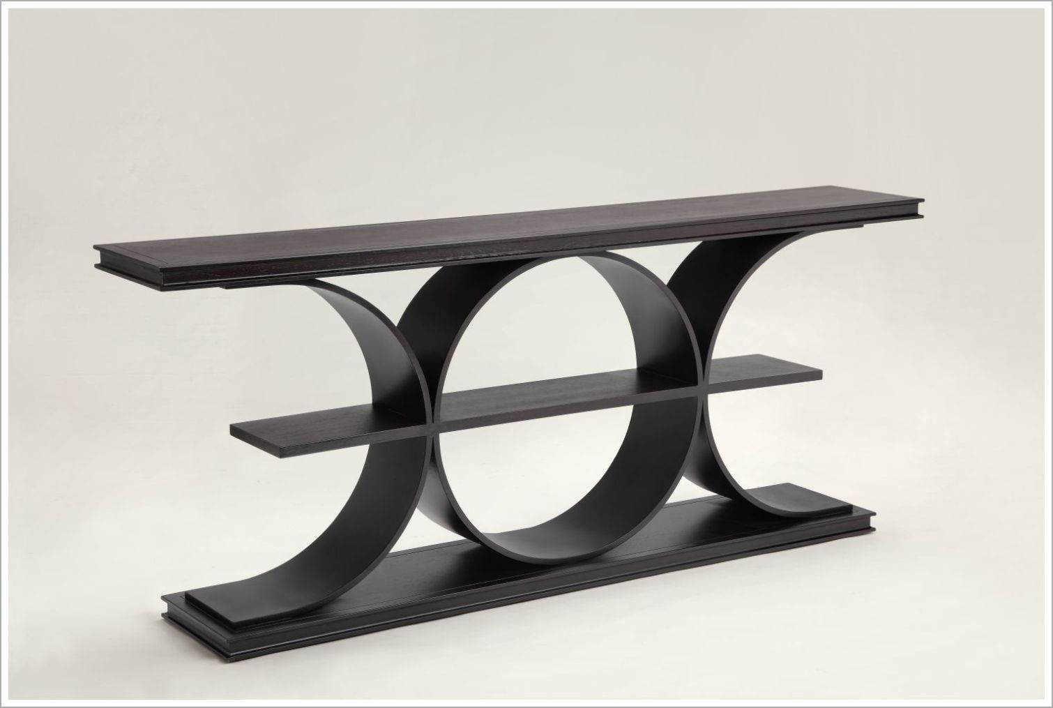 Three Tier Custom Bentwood Hotel Console Table