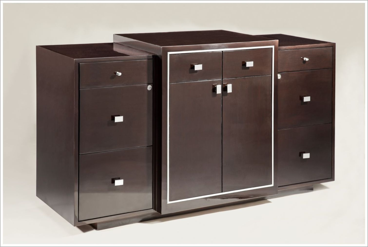 Custom Hospitality Cabinet with Stainless Steel Hardware