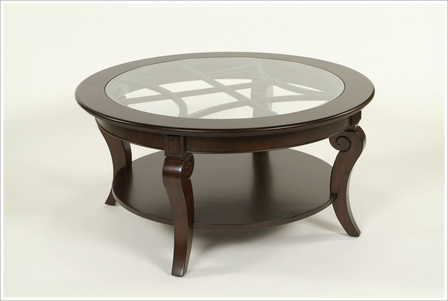 Custom Hotel Cocktail Table with Lattice Pattern and Inset Glass Top