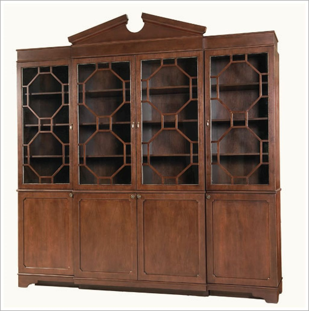 Custom Breakfront DisplayCabinet with Inset Glass
