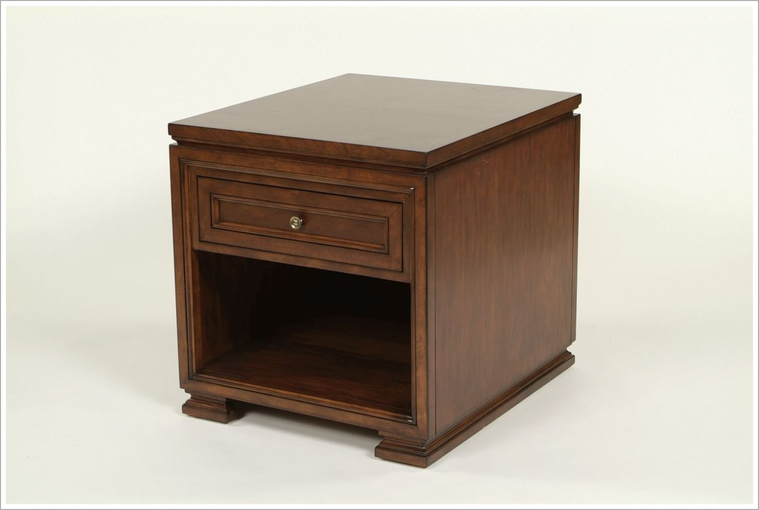 Hotel Nightstand with Antiqued Surfaces